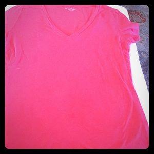 J.Crew cotton coral shirt sleeve tee L